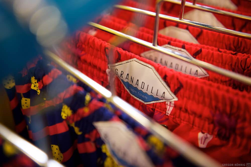 Granadilla Swimwear on the hanger.