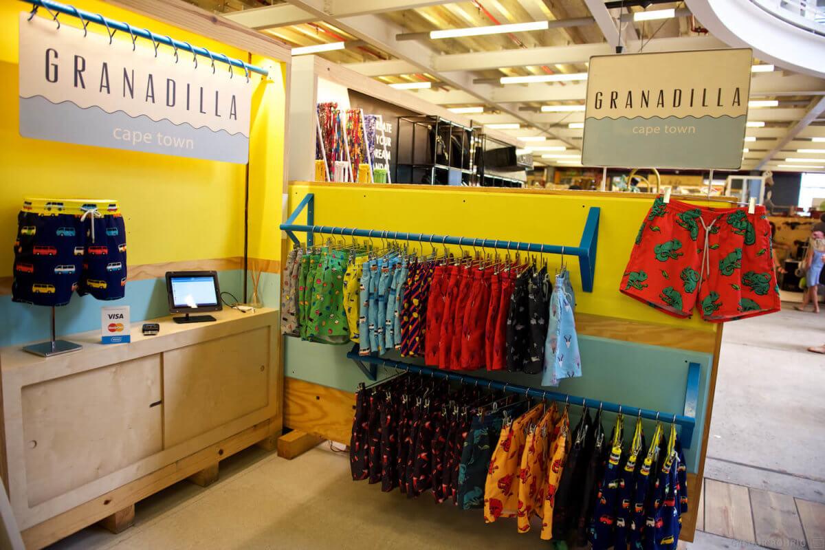 A stall for Granadilla Swimwear.