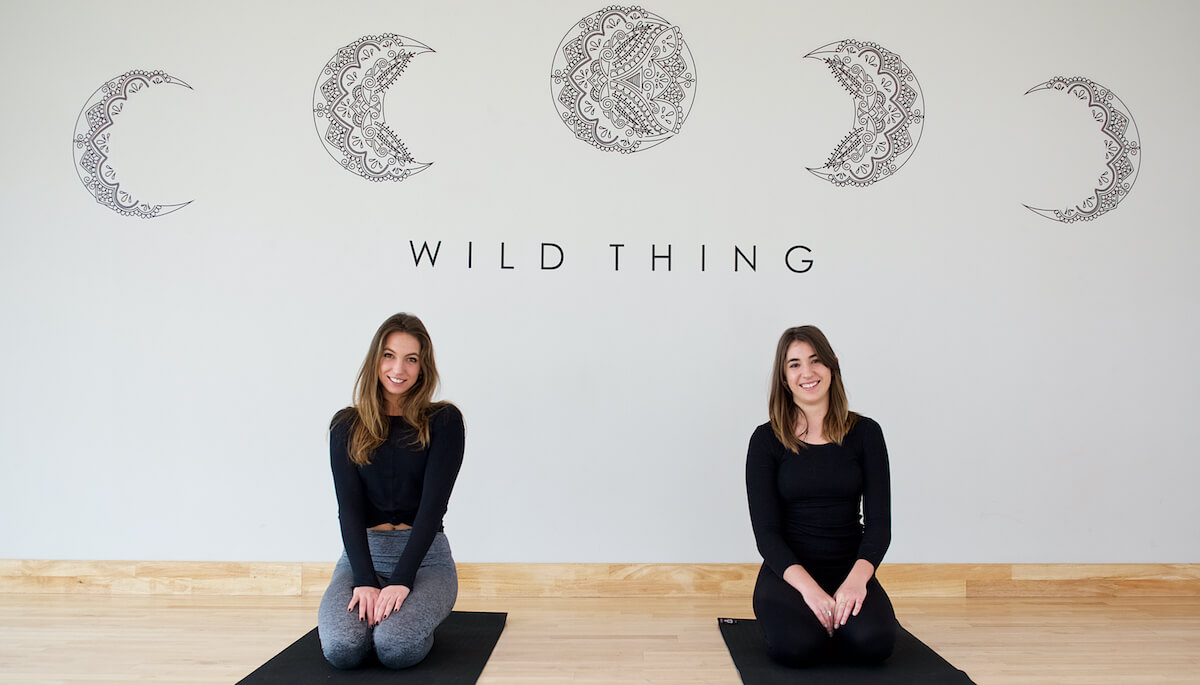 Lexi and Dom of Wild Thing yoga studio.