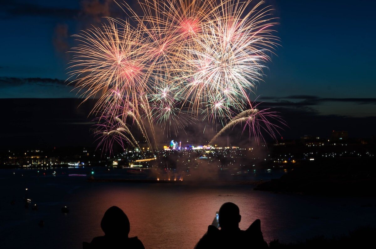 New Year's fireworks in an article about setting up your business for the new year.