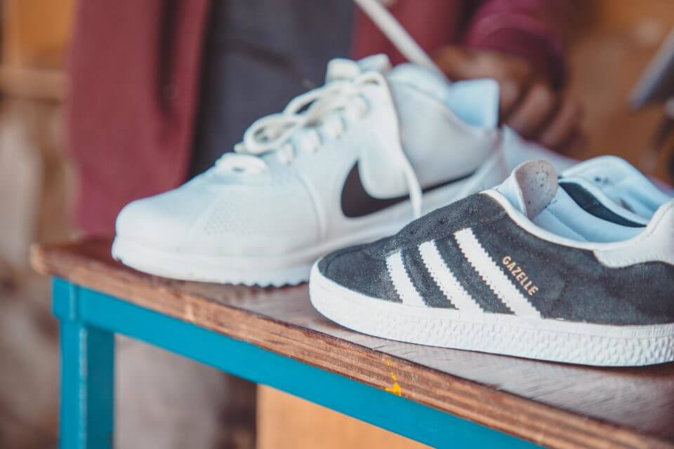 A pair of sneakers at Walk Fresh.