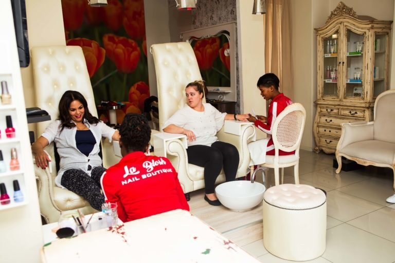 Inside La Blosh Nail Boutique.