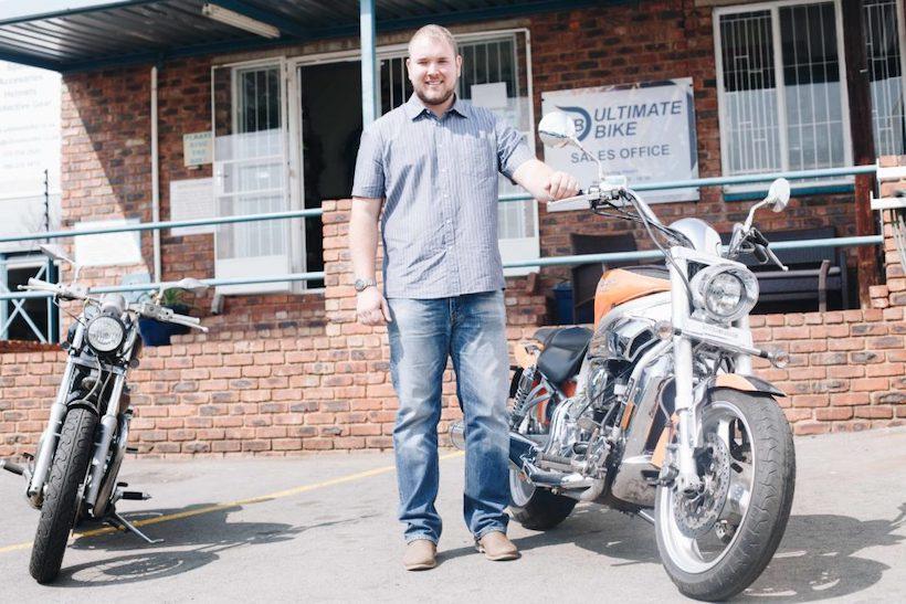 Jean Botha outside Ultimate Bike in Krugersdorp.