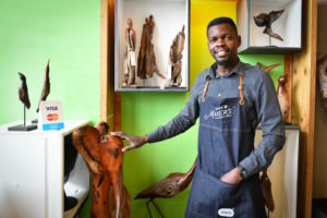 Boniface Chikwenhere of Unique Driftwood Creations.