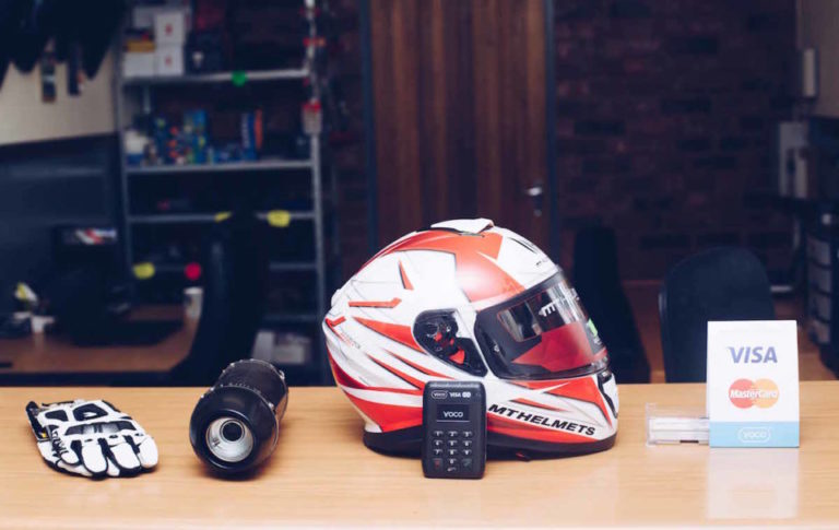 A Yoco device and Ultimate Bike accessories.