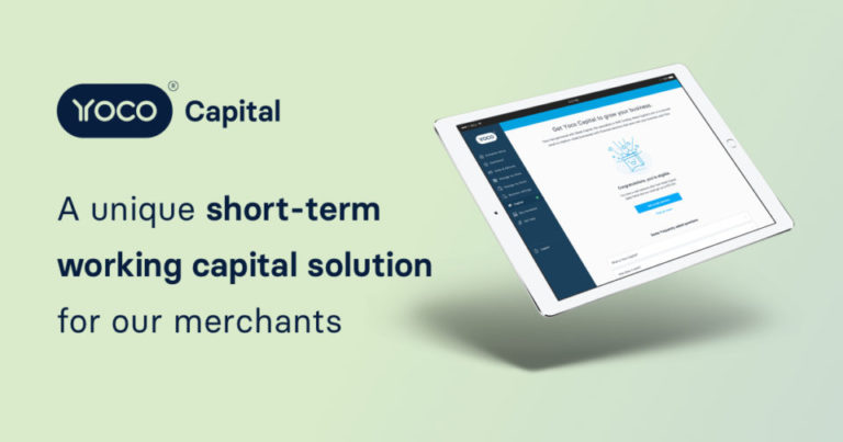 Yoco Capital, a unique short-term working solution for small businesses.