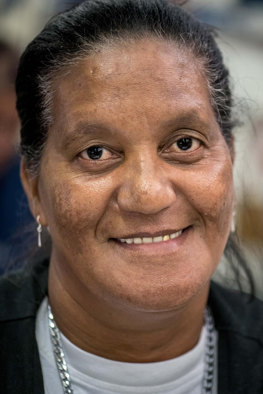 Sandra, who works at Ubuntu Baba in Retreat, Cape Town.