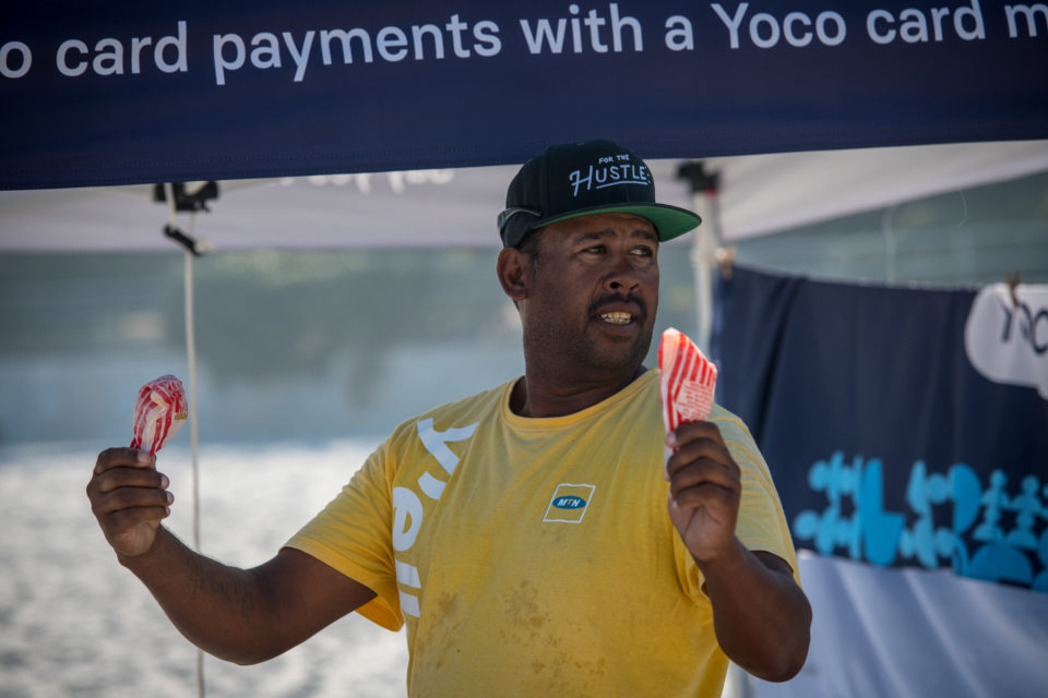 A vendor selling lollies on Cape Town's beaches.