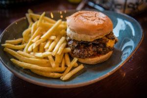 Burgers from Smokin' Joes restaurant.