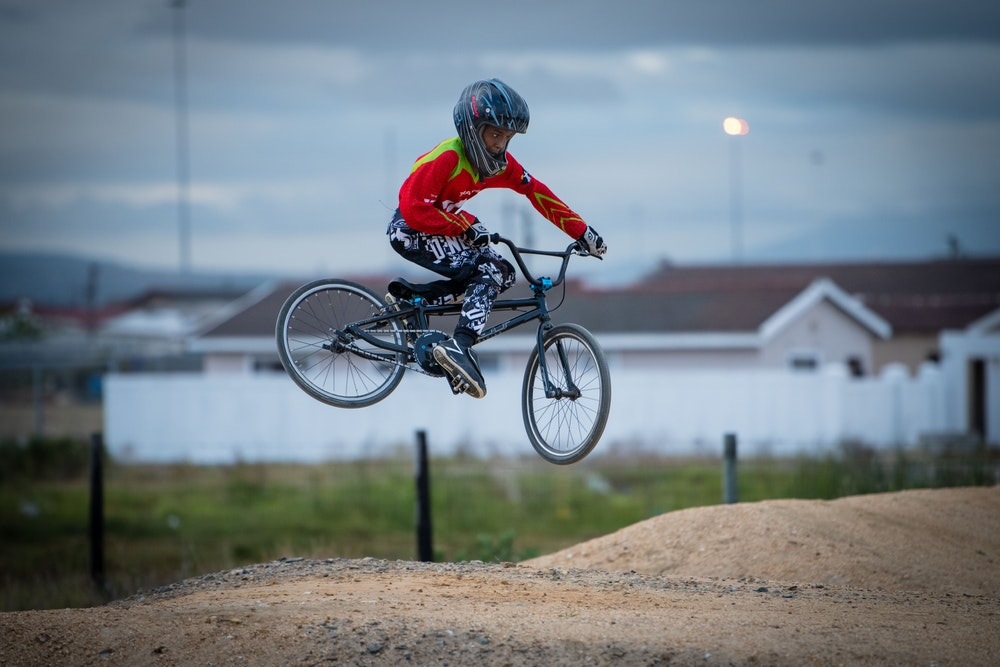 Doing tricks in the air at Velokhaya.