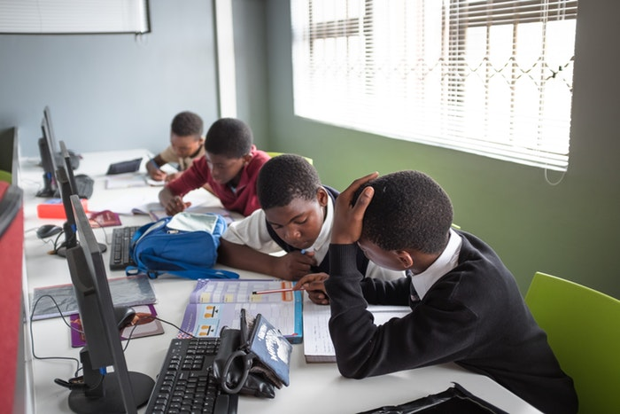 The classroom at Velokhaya Cycling Academy.