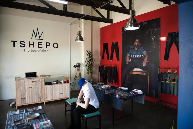 Tshepo the Jean Maker store in Victoria Yards, Johannesburg.