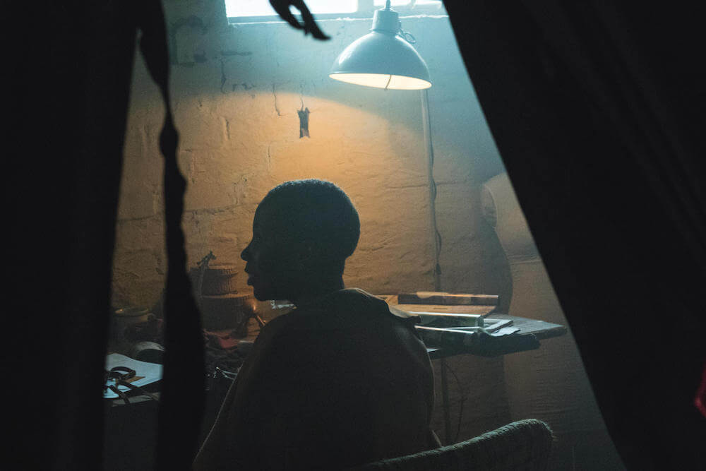 Gugu Nkabinde of Gugu Intimates at a film shoot.