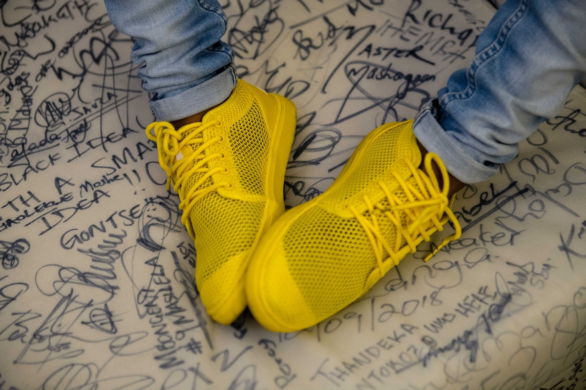 Bathu shoes in the yellow colourway.
