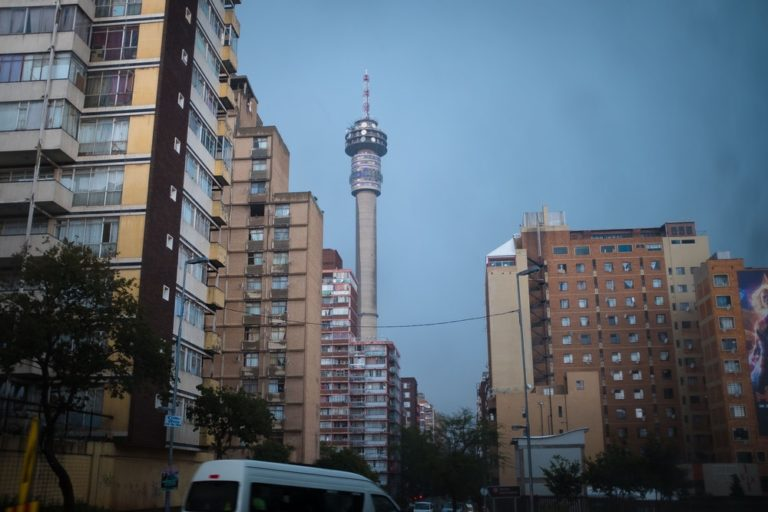Ponte Tower from Junction Mall in Johannesburg.