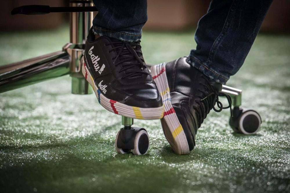 Theo Baloyi wearing Bathu Shoes.