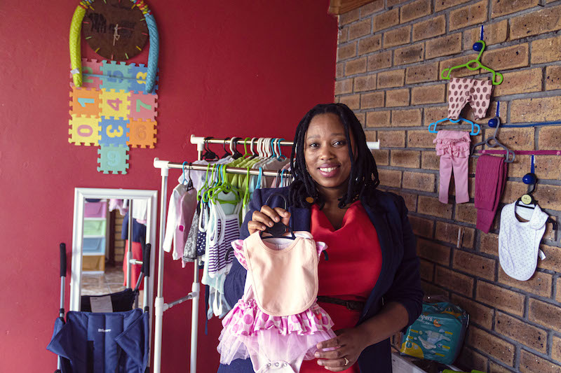 Zandile Tlhapi in her store: Baby Friendly.