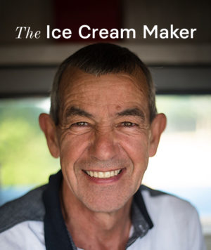 Michael Smith an ice cream maker at of Sweet Moments Soft Serve in Hermanus.