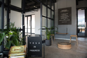 The entrance of Manifest Yoga in Durban.