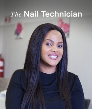 Pabi the Nail Technician on Built on Small.