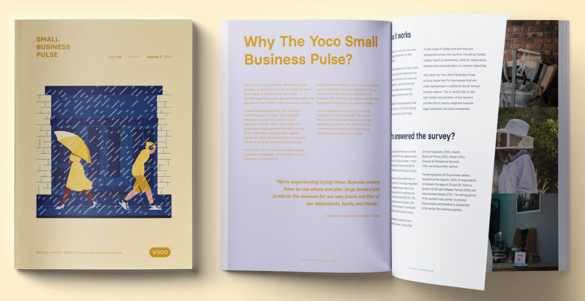 The 2019 Quarter 2 issue of the Yoco Small Business Pulse.