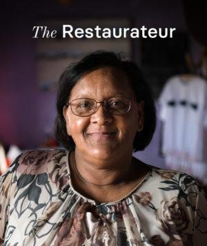 Willeen, the restaurateur in Arniston.