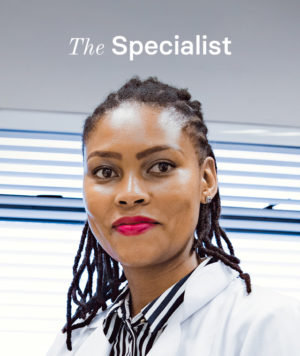Dr Pupuma is an eye specialist, which gives her a special role as a small town business.