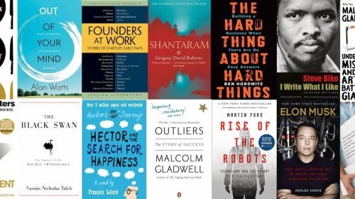 A selection of books for entrepreneurs.